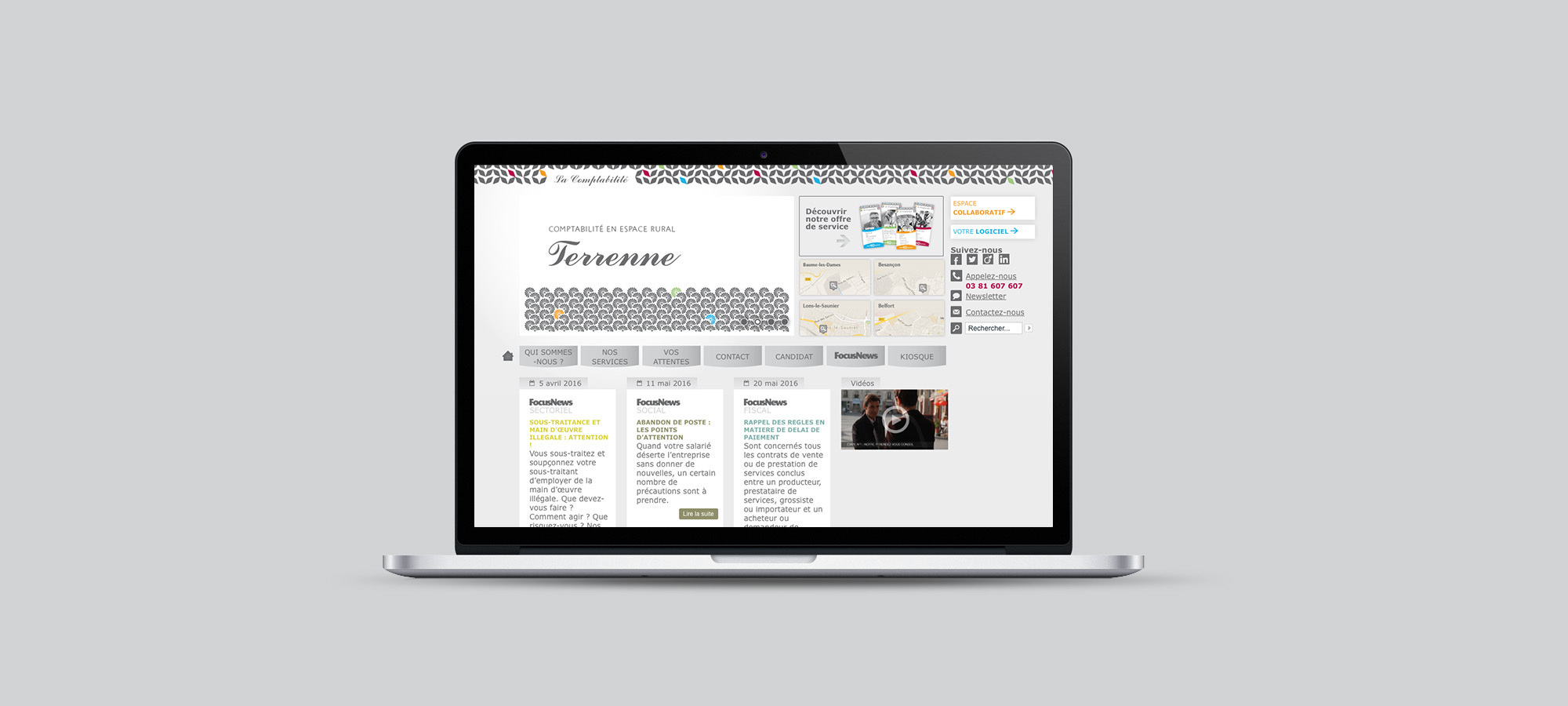 conception webdesign de site web corporate cabinet la comptabilite besan on baume les dames. Black Bedroom Furniture Sets. Home Design Ideas