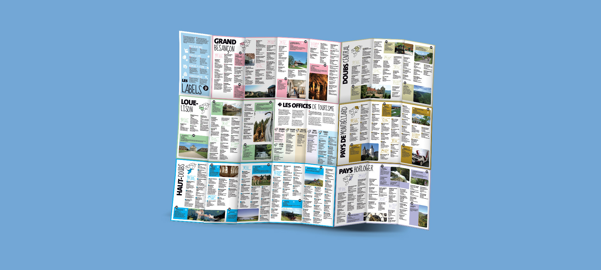 Carte touristique et set de table dition 2017 pour le comit d partemental de tourisme du doubs - Archives du doubs tables decennales ...
